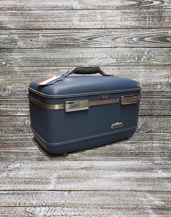 Vintage Tiara Train Case, American Tourister Luggage, Mid Century Modern Suitcase, Overnight Carry On Travel Case w/ KEY, Vintage Luggage by AGoGoVintage