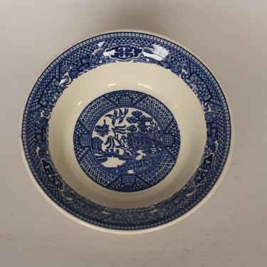 vintage blue willow sauce dish by suesuegonzalas