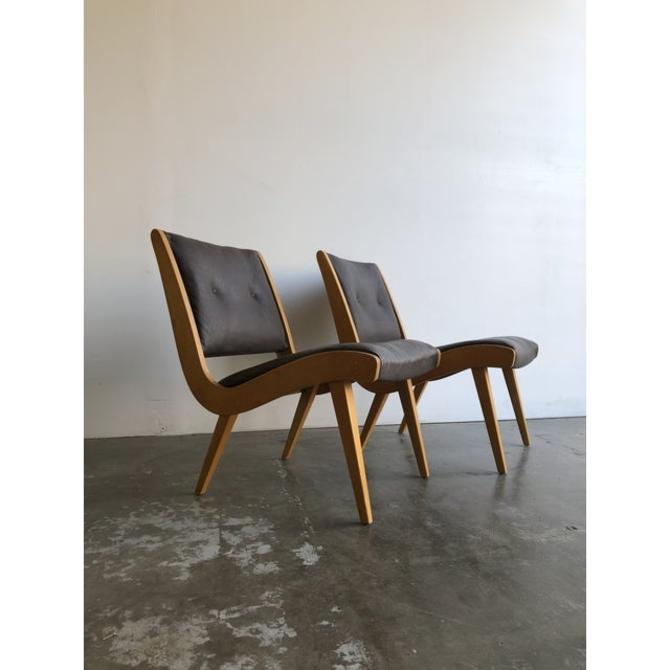 1960s Jens Risom Lounge Chairs - a Pair by VintageOnPoint