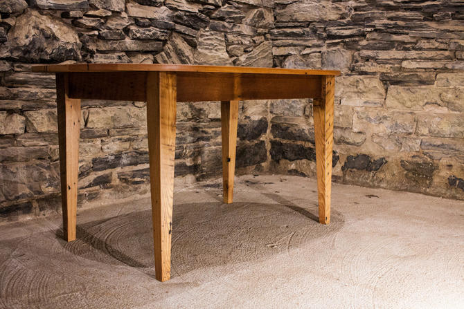 The Guesthouse - Reclaimed Antique Pine Oval Dining Table by BarnWoodFurniture