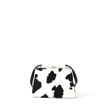 1990s Esprit Cow Purse Shoulder Bag - 1990s Esprit Handbag - Vintage Esprit - Vintage Cow Purse - 1990s Shoulder Bag - 90s Purse - 90s Bag by VeraciousVintageCo