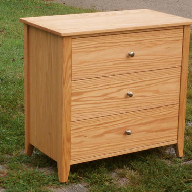 """X3310a *Hardwood Cabinet with 3 Inset Drawers, Corner Posts, 30"""" wide x 20"""" deep x 30"""" tall - natural color by SolidCherryHeirlooms"""