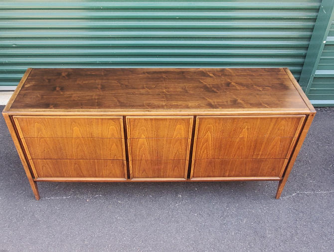 9 Drawer Dresser Mid Century Modern Walnut Petite Size Dresser Lowboy Cabinet Walnut Style of Mccobb Coffey Lane Broyhill Bassett Nelson by MakingMidCenturyMod