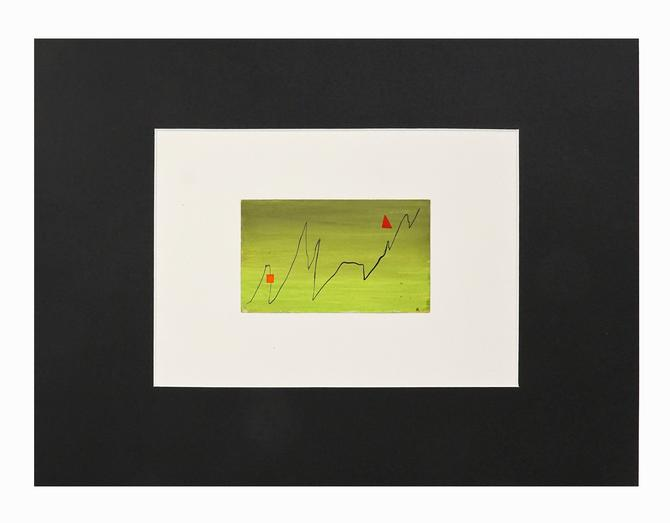 1950s Abstract Gouache Painting on Paper J. Berry Mid Century Modern by VintageInquisitor