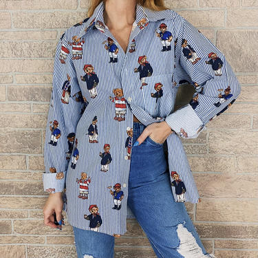 Polo Bear Handmade Button Up Shirt by NoteworthyGarments