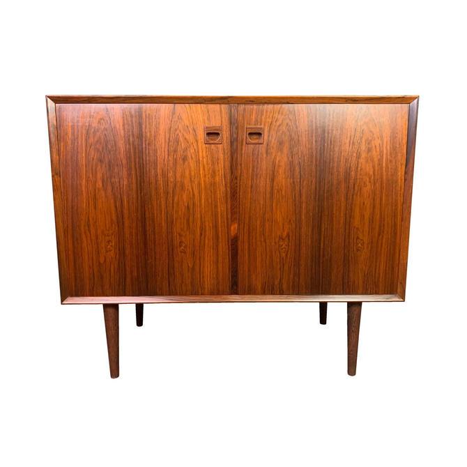 Vintage Danish Mid Century Modern Rosewood Compact Credenza by Brouer Mobelfabrik by AymerickModern