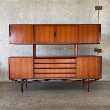 Mid Century Danish Modern Rosewood Sideboard by Knud Nielsen