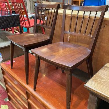 """Willet cherry wood mid century chairs. 5 available 17"""" x 17"""" x 31"""" seat height 17.5"""""""