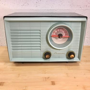 Mint Green 1949 Coronado AM Radio Mid Century Modern, Full Elec Restoration by Deco2Go