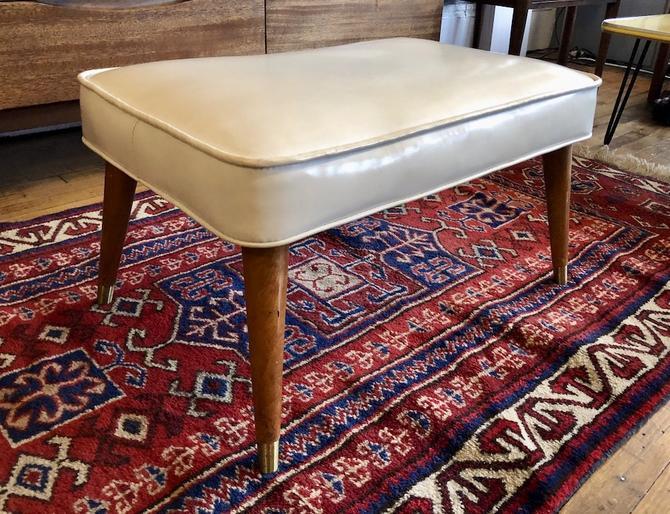 Mid Century 1950's Ottoman\/Footstool