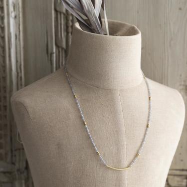 Gold Vermeil and Labradorite Zephyr Necklace