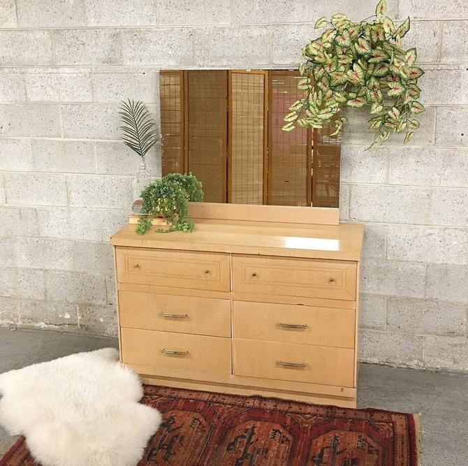 LOCAL PICKUP ONLY ———— Vintage mcm Mirrored Dresser by RetrospectVintage215