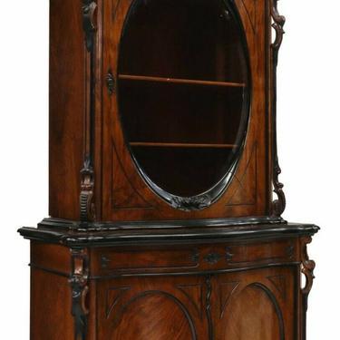 Antique Display / Bookcase, Rococo, Victorian, Walnut Cabinet Sideboard, 1800's!