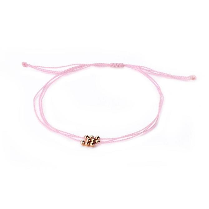 Wish Me Luck Bracelet - Baby Pink