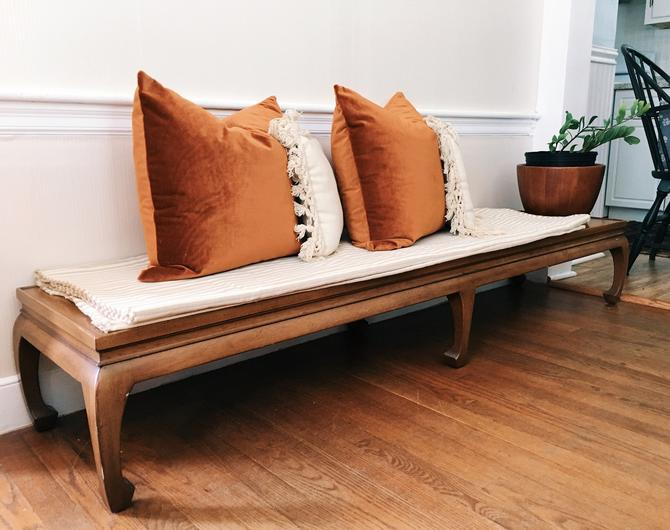 Long Asian Style Coffee Table, Asian Style Bench by VintageandSwoon