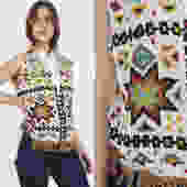 Heavily Beaded Southwester Vest Vintage Native American Tribal Print Vest Suede Fringe Ethnic Tribal Mens Womens Aztec Vest by americanarchive