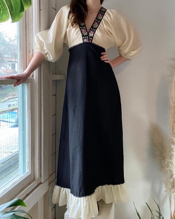 60s Black Label Gunne Sax Dress
