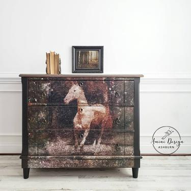 Antique Keyhole Dresser. Chest of Drawers. Black Farmhouse Table. Accent Chest. Painted Bedroom Dresser. Study Table. Horse Dresser. Country by AminiDesignAshburn