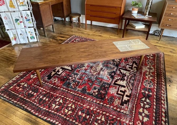 Mid Century Walnut and Tile Coffee Table 1960s
