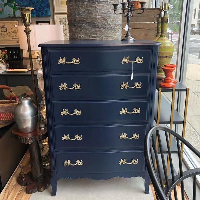 Navy french provincial chest of drawers! $550