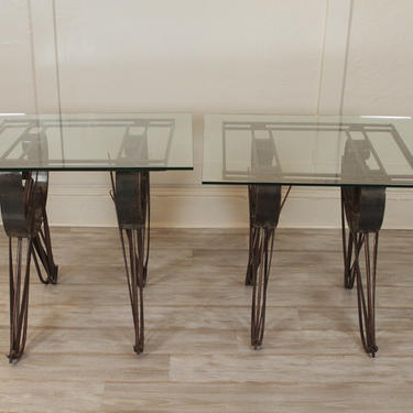 Handmade Wrought Iron Side Tables