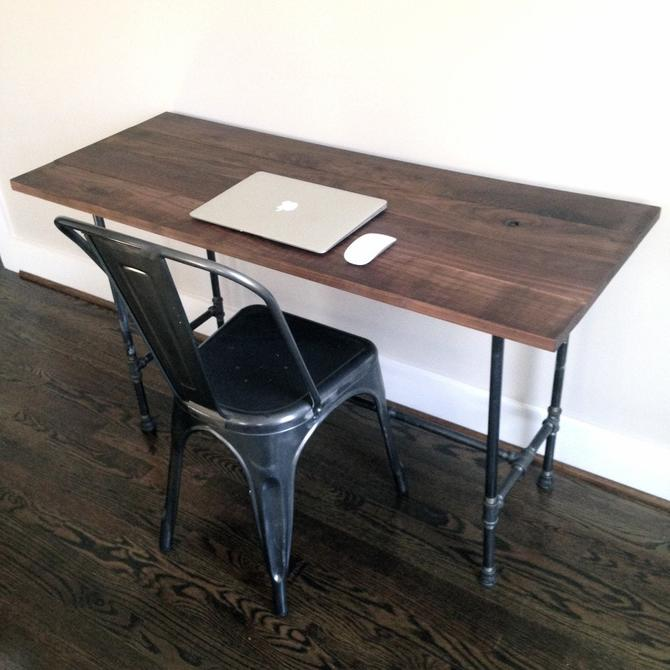 The ASHBURN Desk - Reclaimed Wood & Pipe by arcandtimber