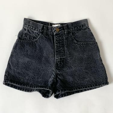 90's Black High Rise Denim Shorts