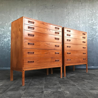 Mid Century Danish Teak Dressers by Arne Wahl Iver