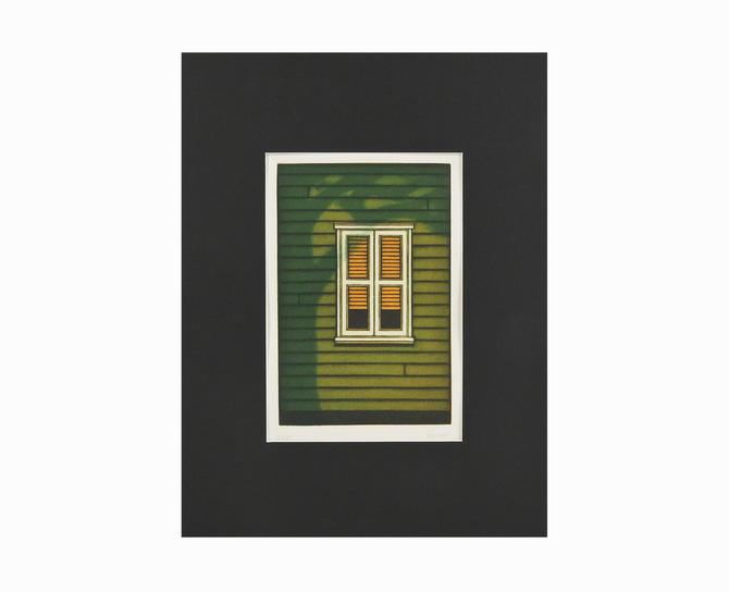 "1984 Kazuhisa Honda ""Window"" Mezzotint Print on Paper Mid Century Modern by VintageInquisitor"