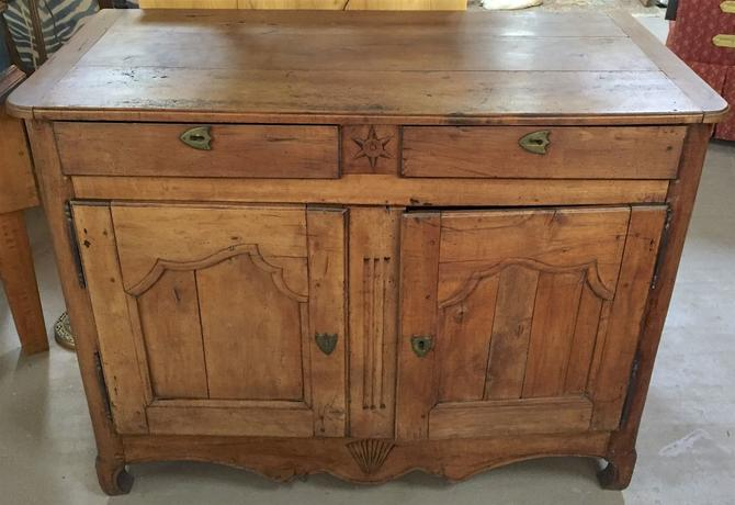 Antique French Provincial Country Buffet Cupboard Cabinet Sideboard | cir. 1800