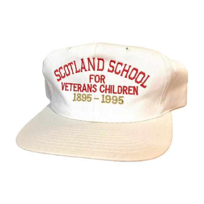 Vintage 90s Scotland School for Veteran Children Snapback Hat 100 Year Anniversary Pennsylvania by OverTheYearsFinds