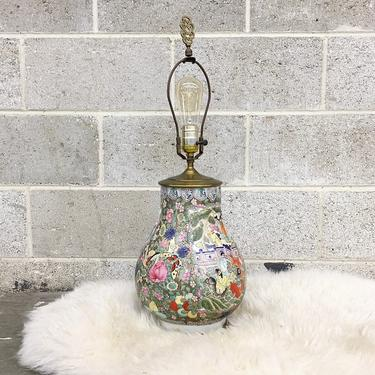 Vintage Table Lamp Retro 1980s Hand Painted + Asian + Kutani Style + 2 Units on Hand + Sold Separately + Mood Lighting + Home Decor by RetrospectVintage215