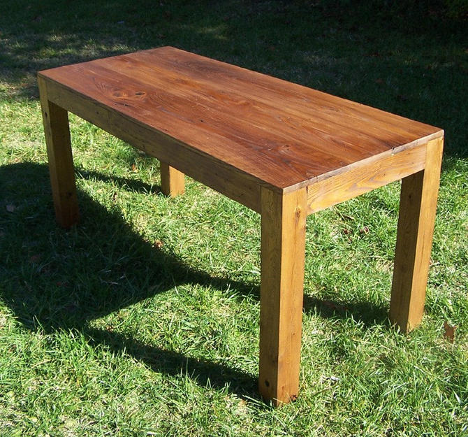 Reclaimed Wood Parsons Table by BarnWoodFurniture