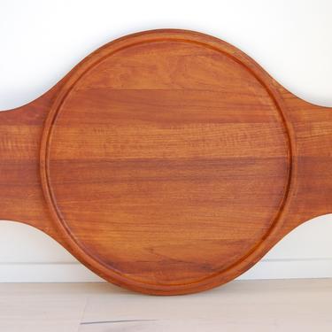 Vintage Dansk Large Solid Teak Tray, Wood Serving Platter Jens H Quistgaard Made in Denmark by MidCentury55