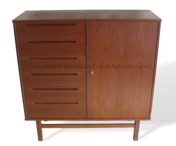 Teak Danish Modern Bedroom Dresser Gentleman's Chest By Nils Jonsson For HJN Mobler, Mid Century Denmark Call / Teax Offers 571 330 0810 by RetroSquad