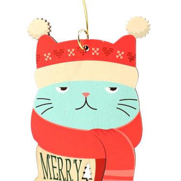 Grumpy Cat Ornament by GreenTreeJewelry