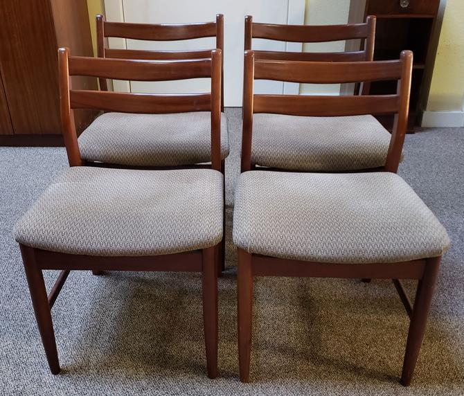 Item #W193 Set of Four Mid Century Dining Chairs c.1960