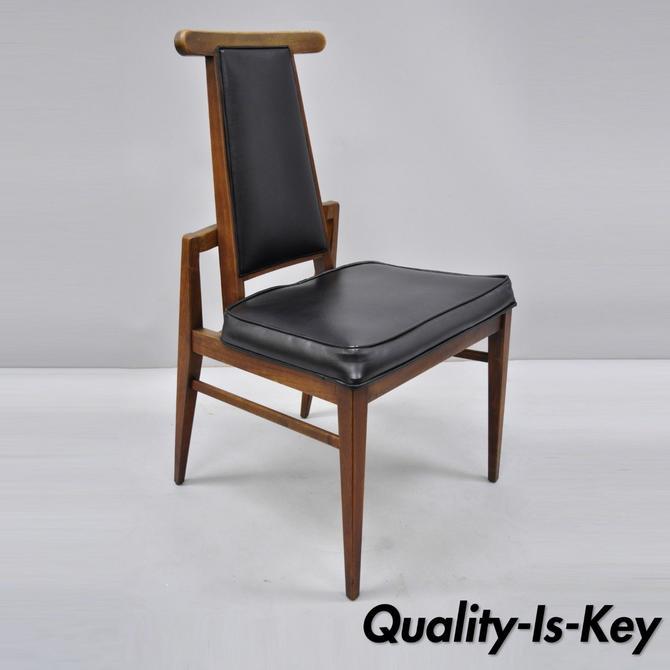 Vintage Foster McDavid Mid Century Danish Modern Walnut Dining Side Chair