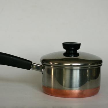 vintage revere ware 1 quart saucepan/copper clad bottom/clinton illinois/1992 by suesuegonzalas