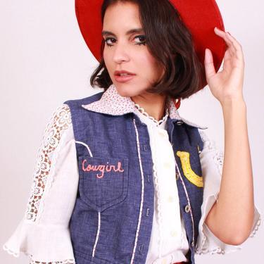 Cowgirl Crop Vest by DevilSlang