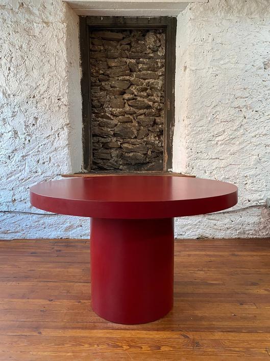 Mid century dining table Danish modern dining table mid century modern round dining table by VintaDelphia