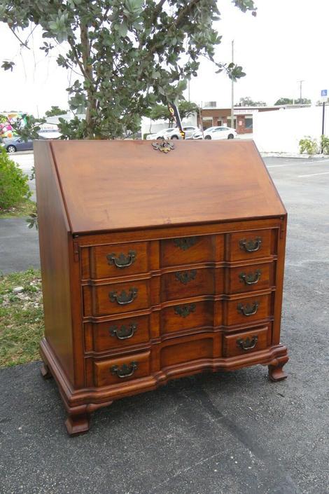 Early 1900s Mahogany Large Secretary Desk by Maddox 1995