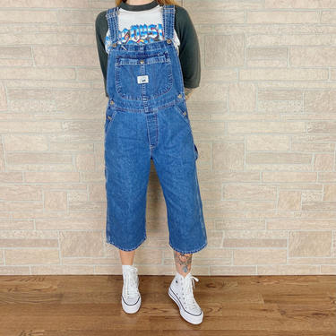 LEE Riveted Denim Cropped Dungarees Overalls by NoteworthyGarments