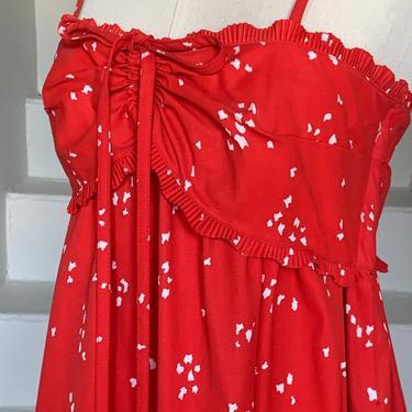 Stellar Rare 1970s Cotton Block Printed Maxi Dress by Bill Tice Vintage Designer 36 Bust Boho Hippie Gypsy by AmalgamatedShop