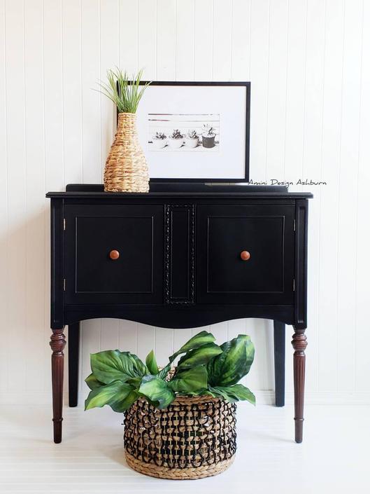 AVAILABLE - Mahogany wood buffet foyer hallway table by AminiDesignAshburn