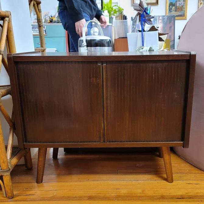 Mid-Century Modern Walnut Record Cabinet