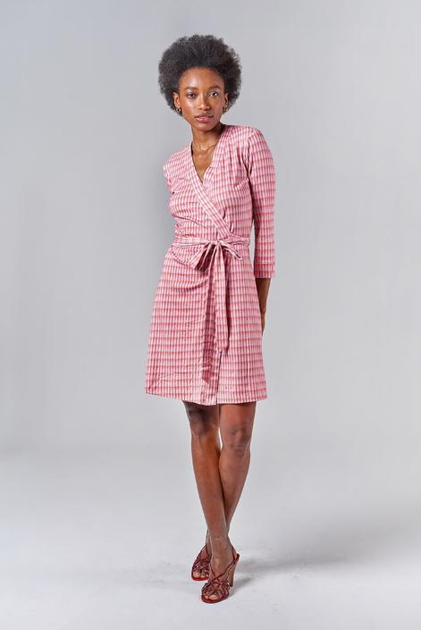 Rachel Wrap Dress | Classic Teardrop in Peach