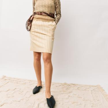 Don Sayres Vintage Pinstripe Pencil Skirt, Size 6