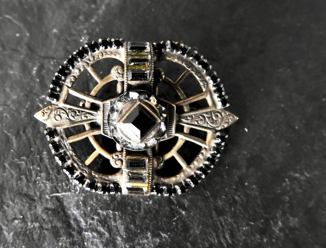 Sorrelli Deco Revival Mourning Brooch by LegendaryBeast