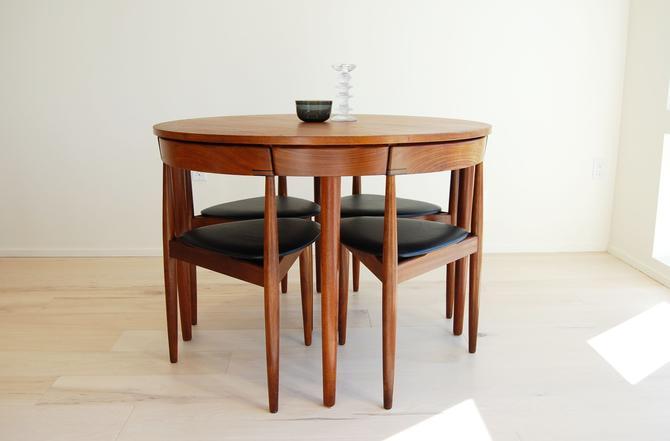 Danish Modern Hans Olsen Teak Dining Table and 4 Chairs for Frem Rojle Made in Denmark by MidCentury55